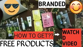 Get free sample products | Luxury | Branded | Smytten 3rd part |