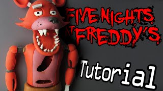 FOXY Five Nights At Freddy s Polymer Clay Tutorial Porcelana Fr a Plastilina