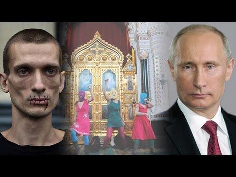 Pussy Riot Anti-Putin Punk Band Church Show Trial in Full Swing
