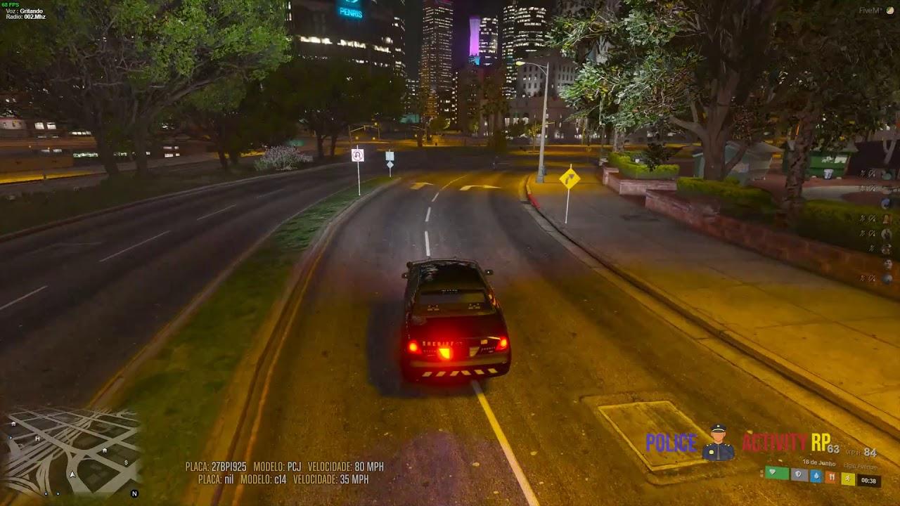 Perseguição a moto e acidente com o policial
