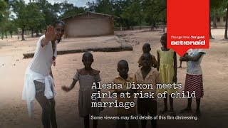 Alesha Dixon's trip to Ghana for ActionAid's campaign against child marriage