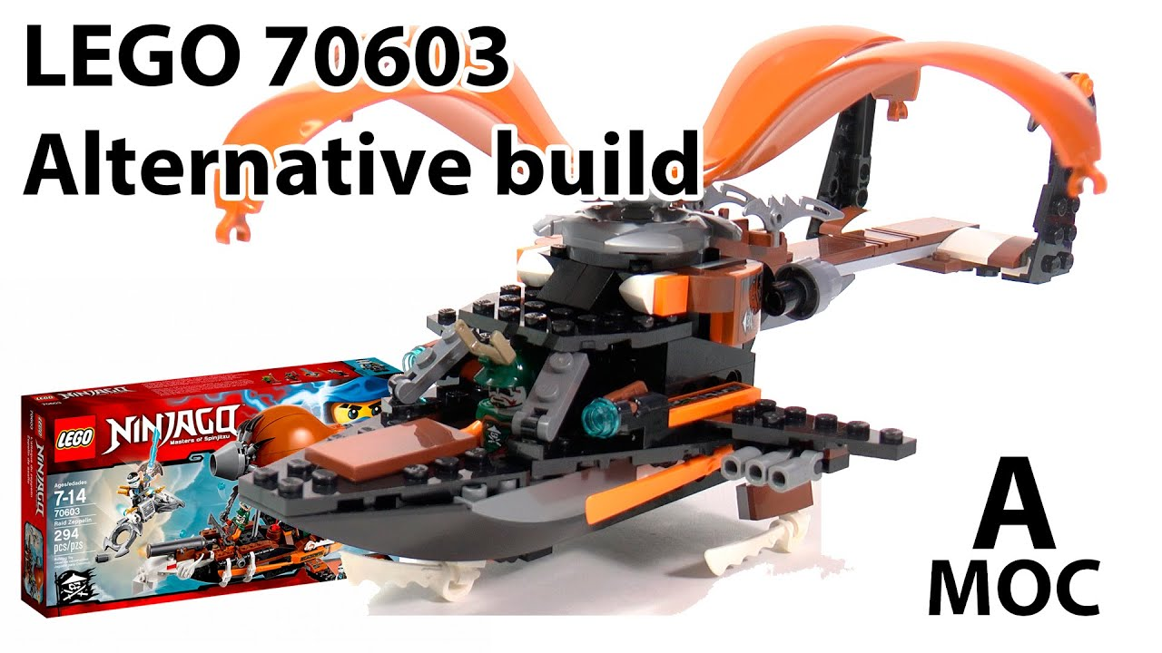 Tutorial Lego 70603 Ninjago Pirate Helicopter Alternative Build