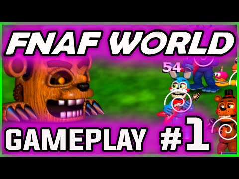 FNAF WORLD GAMEPLAY PART 1 | 1st Boss Battle! | FNAF World Walkthrough Part 1