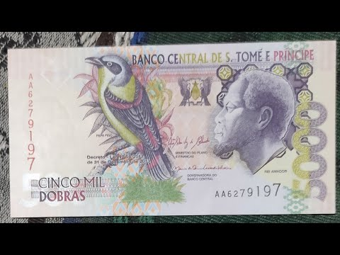 Sao Tome and Príncipe currency || Dobra || Beautiful African Currency note