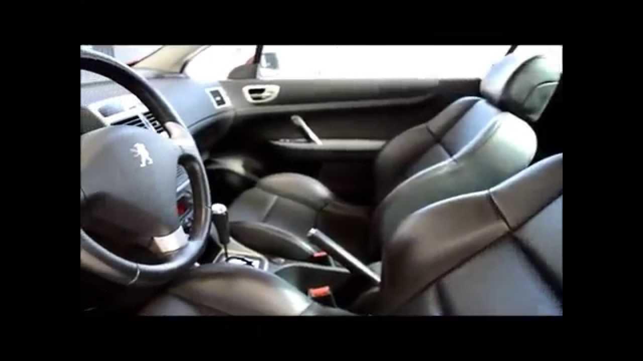 peugeot 307cc 2.0cc 16v interior - youtube