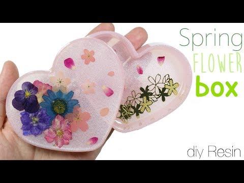 How to DIY Spring Flower Garden Trinket Box Uv Resin Tutorial