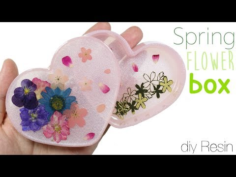 How to DIY Spring Flower Garden Trinket Box Uv Resin Tutorial
