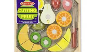 Melissa And Doug Deluxe Wooden Cutting Fruit Crate (toy)