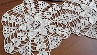 Tığişi örgü dantel motifi  yapımı \u0026 Crochet