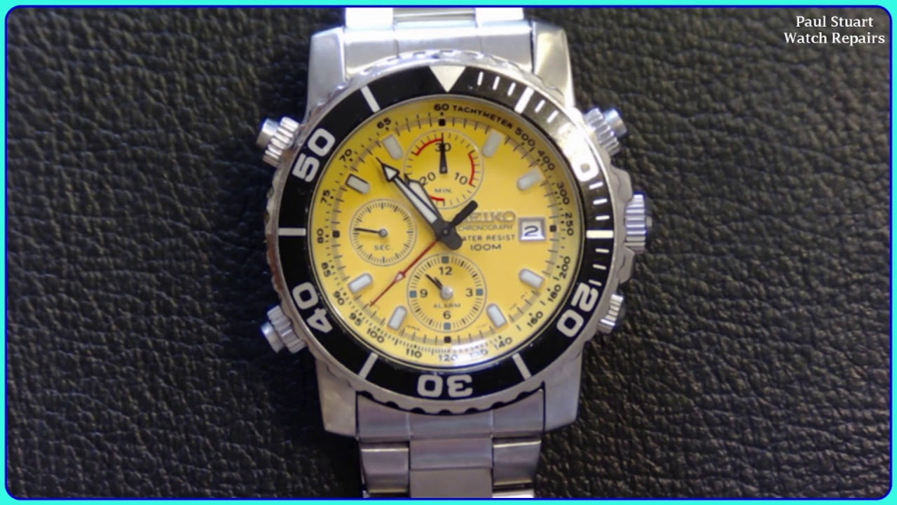 seiko 7t32 7g30 yellow daytona full service and repair youtube rh youtube com Seiko 7T32 Year of Manufacture Old Seiko Watches