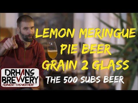 Lemon Meringue Pie Beer Grain 2 Glass