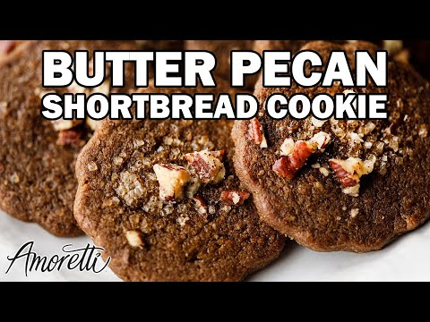 How To Make Shortbread Cookies | Butter Pecan Shortbread Cookie Recipe With Pecan Flour