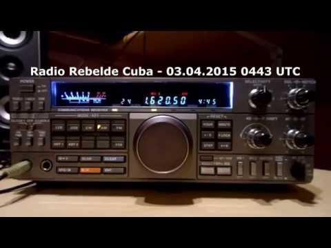 Radio Rebelde Cuba 1620 kHz AM 03.04.2015