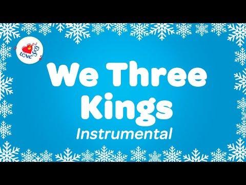 We Three Kings Christmas Instrumental Music with Karaoke Sing Along Lyrics