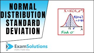 Normal Distribution   Finḋing the Standard Deviation using tables or calculator