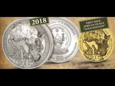 Coin Of Interest 2018 Rwanda 1oz Gold Giraffe