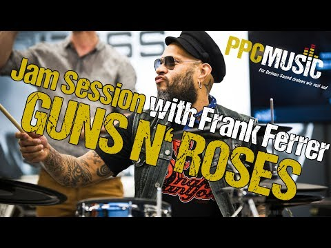 Guns N' Roses feat PPC Music Hannover // Frank Ferrer play Drums at Roland Show Truck