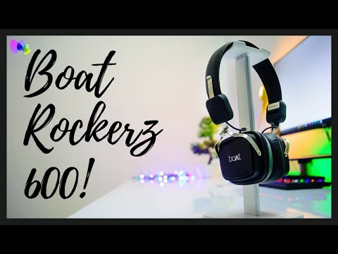e8220c2420d BEST CHEAP BUDGET WIRELESS BLUETOOTH HEADPHONE : BOAT ROCKERZ 600 FULL UN  BOXING AND REVIEW IN HINDI