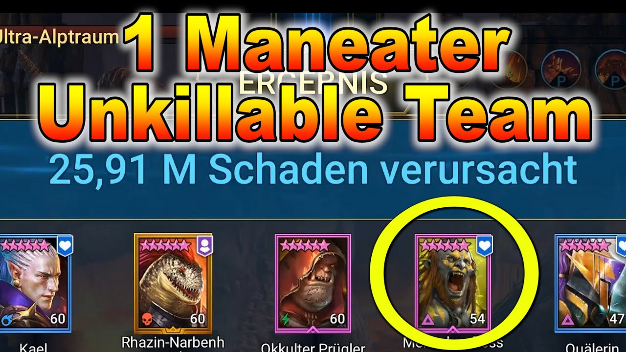 1 Maneater Unkillable  Team :: Maneater Painkeeper :: Raid Shadow Legends deutsch