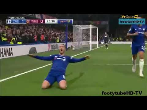 Eden Hazard score Two goals v West Ham  8th Apr 2019 thumbnail