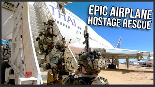 EPIC AIRSOFT AIRPLANE HOSTAGE RESCUE AND BOMB DEFUSAL