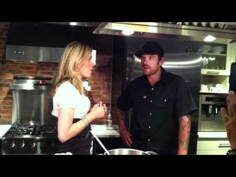 Cook And Date: Food Network Chef Chuck Hughes Being Interviewed For CTV's Sunday Bite