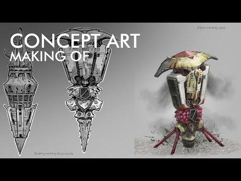 Pantropy Concept Art | Mining Pod – Devlog #006