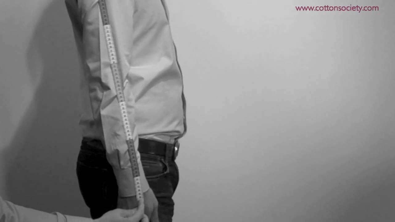 Mesure En Pour Manche Society Ligne Sur Longueur Mesurer De Cotton Sa Chemise zvgfSwYq