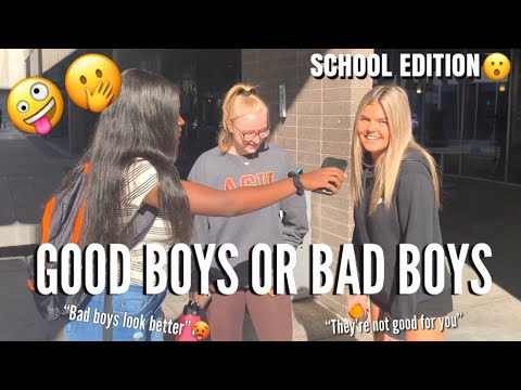 DO GIRLS PREFER GOOD BOYS OR BAD BOYS 🤔 | PUBLIC INTERVIEW