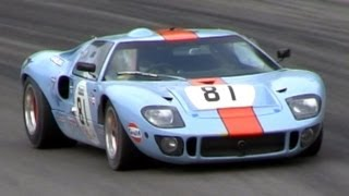 Gulf Racing Ford GT40 MK1 SOUND On The Track