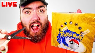 Opening a VINTAGE Base Set Pokémon Box LIVE