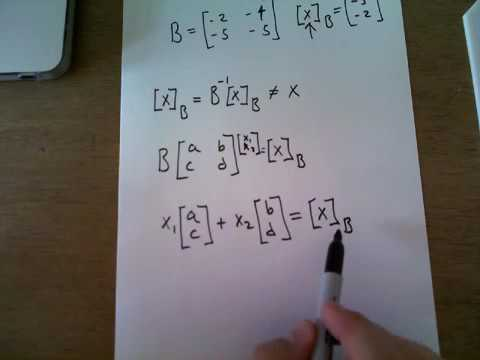 Consider the basis B of R2 consisting of the vectors
