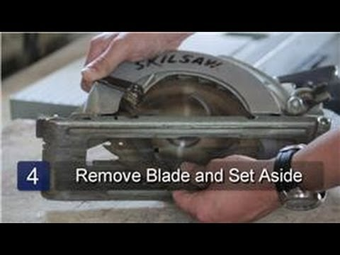 Skilsaw how to change a blade on a skilsaw youtube greentooth Images