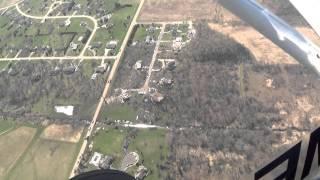 flight over fairdale and rochelle illinois tornado damage