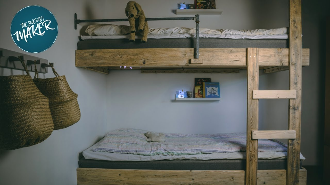 How To Build A Bunk Bed Youtube