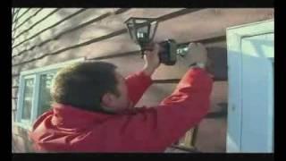 B.) Motion sensor lights