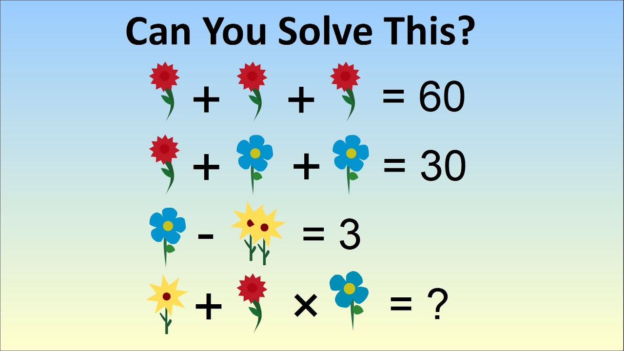 Homework In China Stumps Adults - The Flower Algebra Problem - YouTube