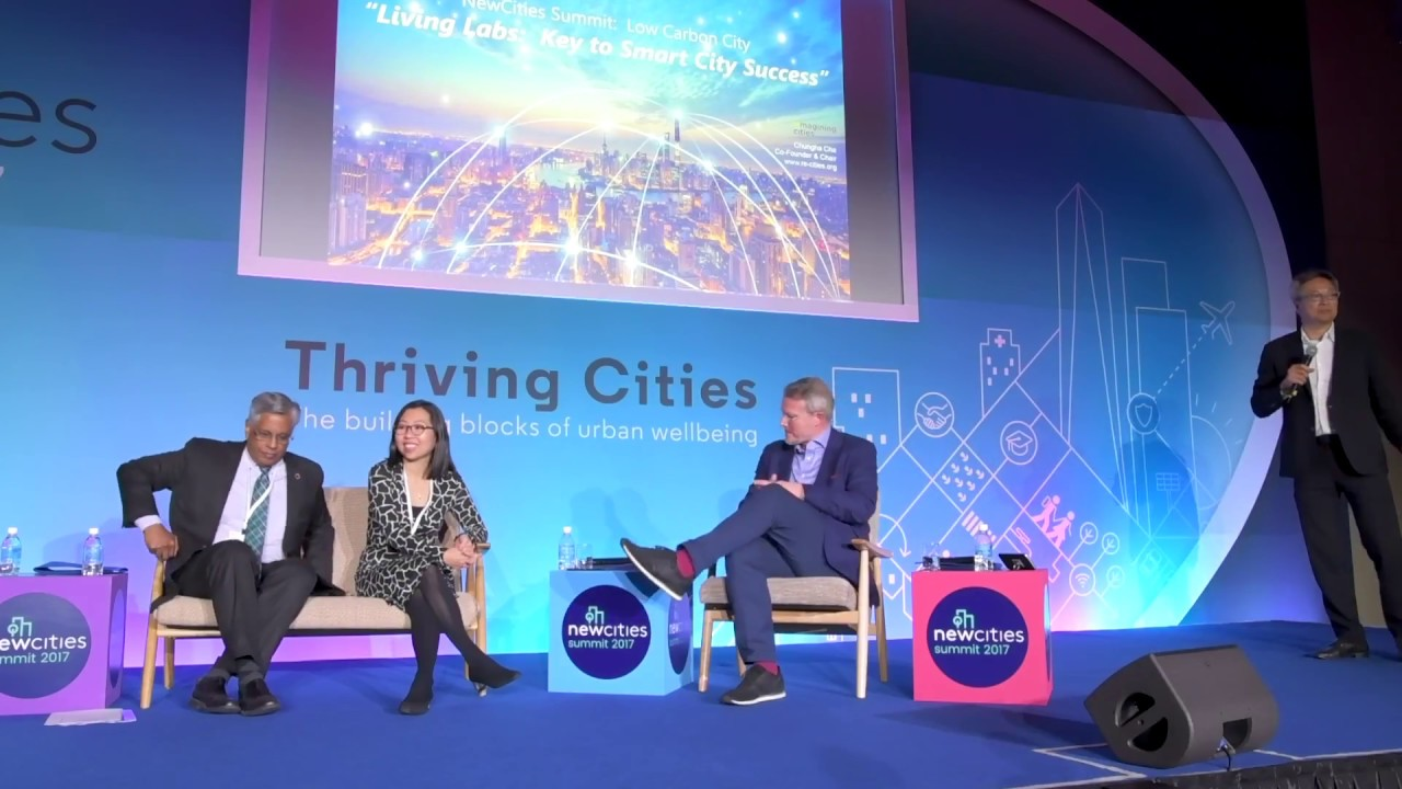 """Living Labs: Key to Smart City Success"" by Chungha Cha at New Cities Summit 2017: Low Carbon City"