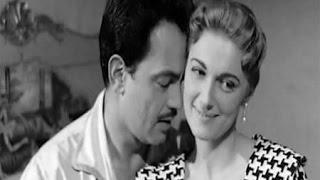 صور نادرة كمال الشناوي ومريم فخر الدين في عرض فيلم عريس اختى