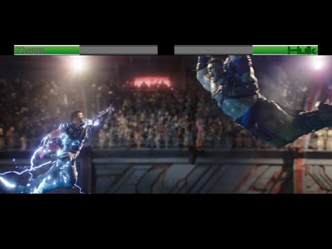 Thor vs Hulk...with healthbars