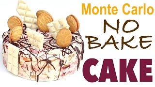 how to make a NO BAKE MONTE CARLO CAKE!