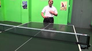 подача в настольном теннисе. серия 01
