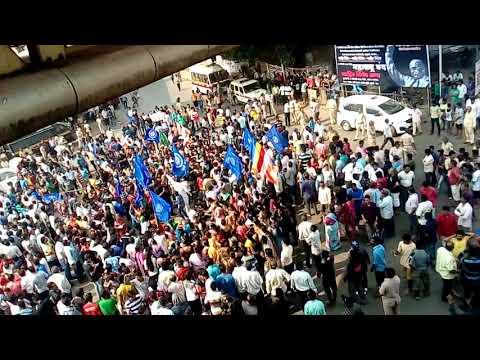 Dalit protest against bhima koregaon violence in wadala Mumbai on 3rd January 2018