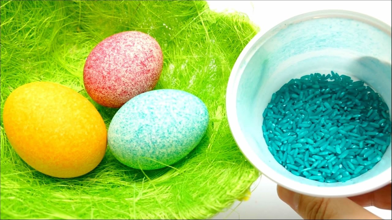 DIY - Rice Easter Egg Coloring - Shake It - YouTube