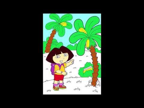 Dora the explorer colouring page