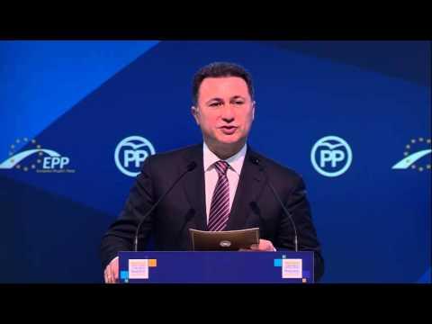 EPP Madrid Congress - Nikola Gruevski, Prime Minister of F.Y.R.O. Macedonia