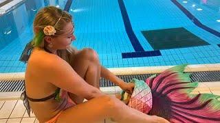 شاهد: في فنلندا.. تعلم السباحة على طريقة الحوريات