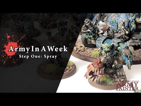 Army In A Week, Step One: Spray
