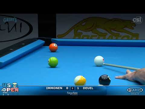 2017 US Open 10-Ball: Immonen vs Deuel