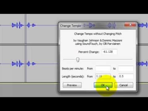 Audacity: Stretch and Shrink Segments